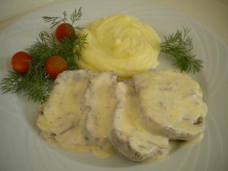 Рецепт Говяжий язык в сливочном соусе