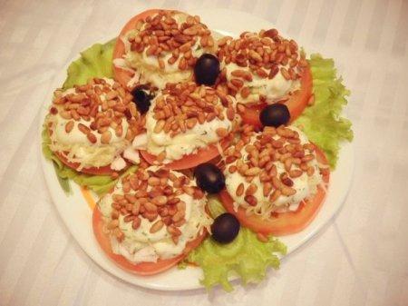 Рецепт Закуска помидорная с сыром