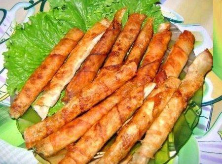 Рецепт Закусочные рулетики из лаваша