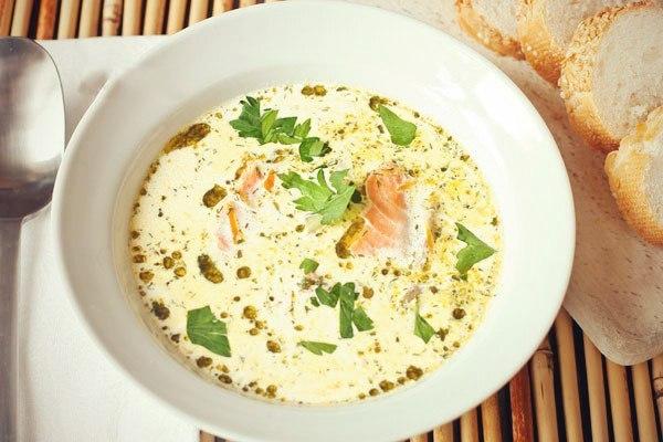 сливочный суп с красной рыбой рецепт с фото