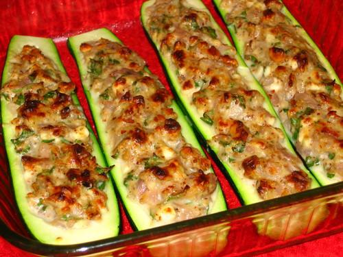 кабачки лодочки фаршированные в духовке рецепт с фото