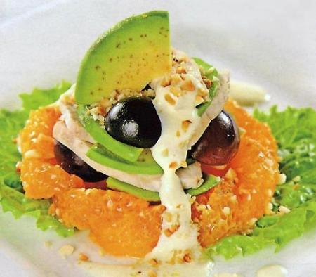 Рецепт Французский зеленый салат с апельсинами и авокадо