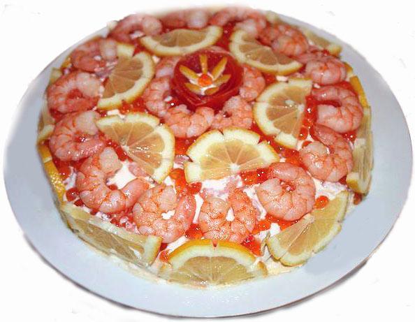 рецепт салата креветки под шубой с фото