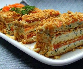 "Рецепт Салат-торт ""Наполеон"""