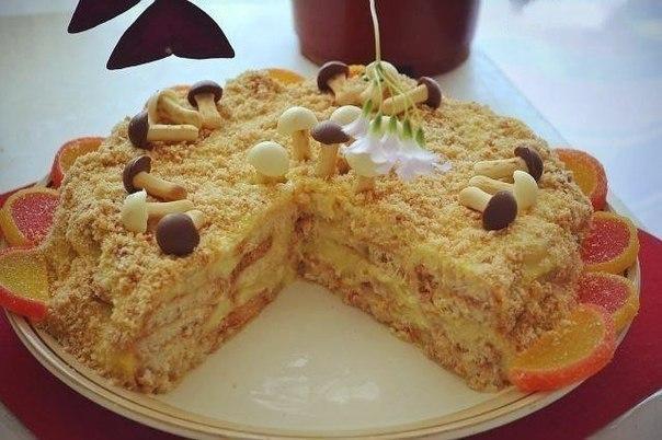 рецепт торта наполеон из слоеных ушек