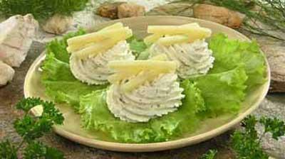 Рецепт Творожно-сырная закуска