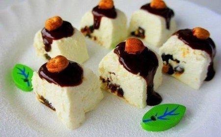 Рецепт Творожный десерт с финиками и фундуком