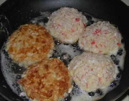Рецепт Котлеты из крабовых палочек
