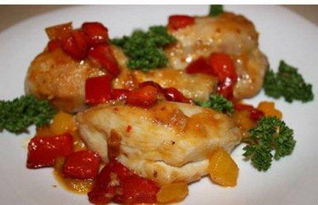 Рецепт Цыпленок со сладким перцем