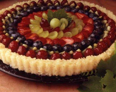 Торт из риса с фруктами жрать ру