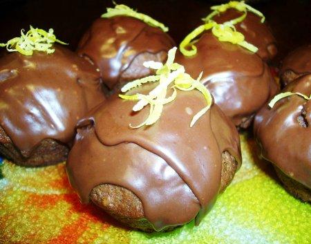 Рецепт Шоколадно-банановые маффины