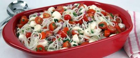 Рецепт Ведический салат из рисовых макарон