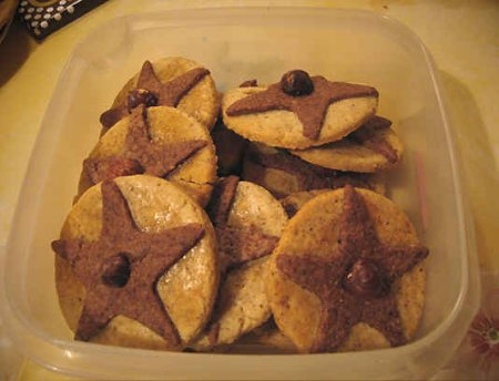 Печенье орехово-шоколадное