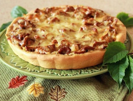 Рецепт Пирог с лисичками