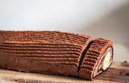 Рецепт Шоколадно-банановый рулет за 15 минут