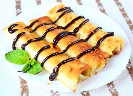Рецепт Блинчики с яблоком по-будапештски
