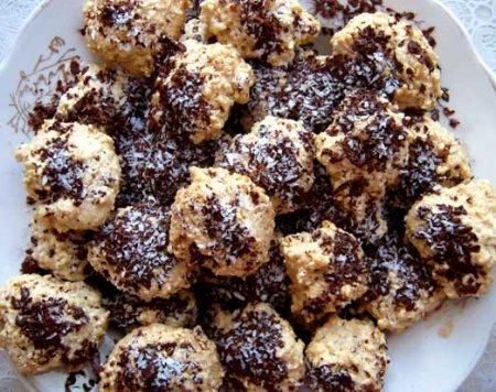 Рецепт Кунжутное печенье с шоколадом
