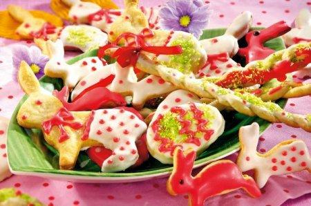 Рецепт Пасхальная выпечка: зайчики-кролики (печенье)