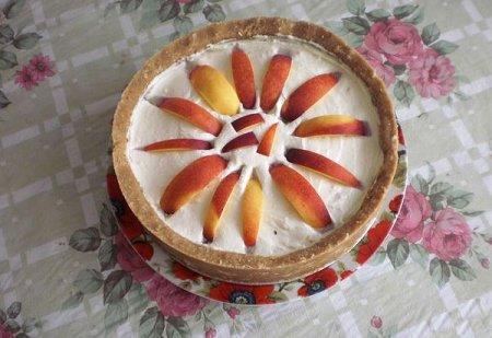Рецепт Чизкейк с персиками