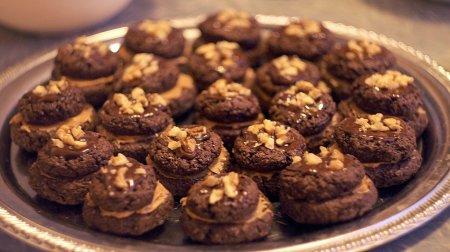 Рецепт Шоколадное печенье-сэндвичи с арахисовым маслом