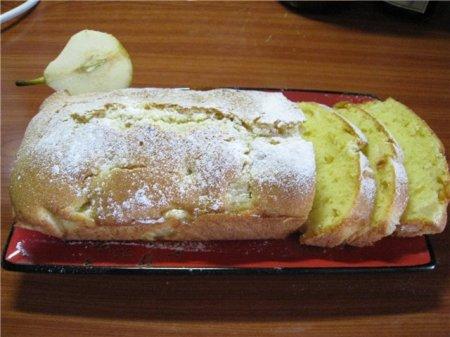 Рецепт Лимонный кекс с грушей