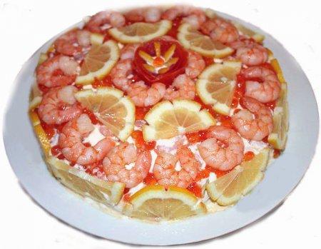 "Рецепт Салат ""Креветки под шубой"""