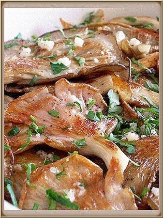 Рецепт Вешенки в чесночном маринаде