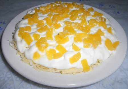 Рецепт Салат с апельсинами и сыром
