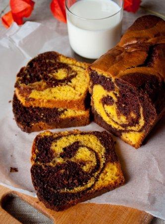 Рецепт Шоколадный кекс с тыквой и творогом