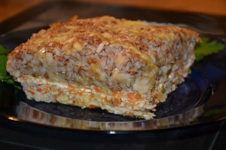 Рецепт Запеканка с фаршем и гречкой
