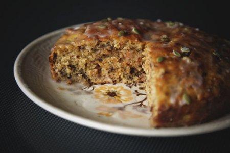 Рецепт Бананово-морковный кекс с орехами и шоколадом