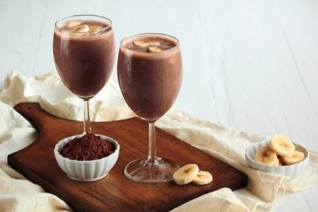 Рецепт Бананово-шоколадный коктейль