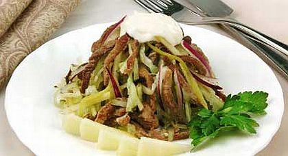 салат дамский каприз рецепт с курицей и черносливом киви и гранатом