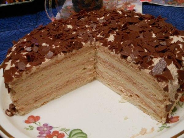 рецепт торта крем брюлле простой