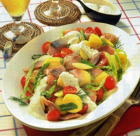 Шведский салат цезарь