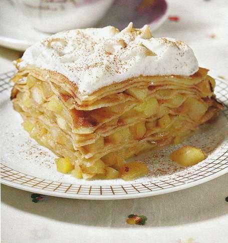 Блинный яблочный пирог вкусный, простой и очень сытный!