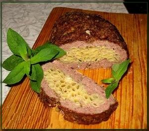 Рецепт Мясной Рулет с макаронами