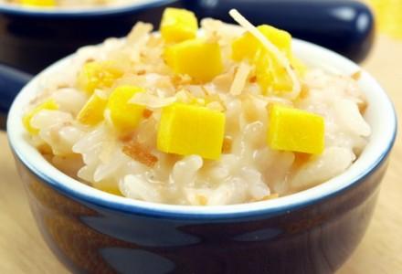 Рецепт Кокосово-рисовый пудинг с манго