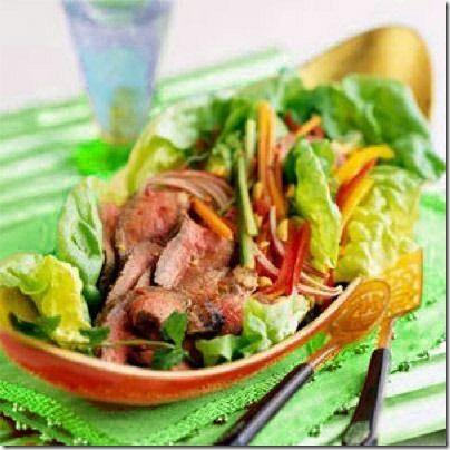 Рецепт Острый салат из вареной говядины