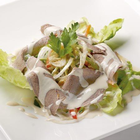 Рецепт Салат с языком и капустой