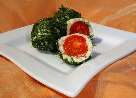 Рецепт Закусочные шарики из брынзы и помидор