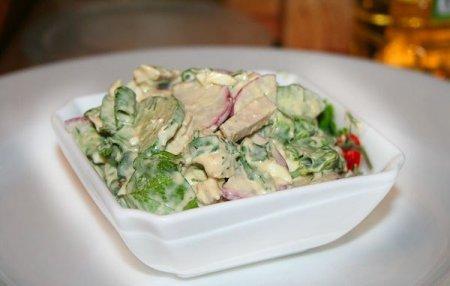 Рецепт Салат с отварной свининой