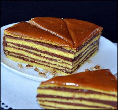 """Рецепт Шоколадный торт """"Добош"""""""
