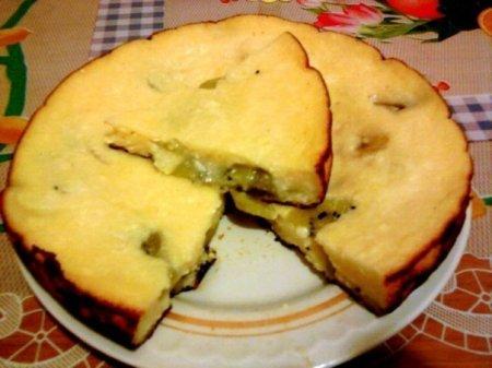 Рецепт Творожная запеканка с киви и бананом