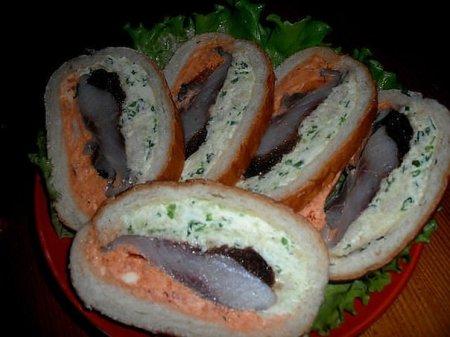 Рецепт Оригинальные бутерброды с селедкой