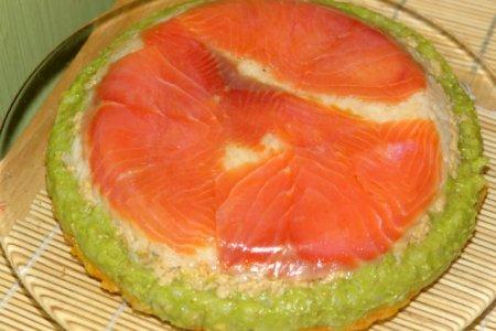 Рецепт Суши-торт с красной рыбой