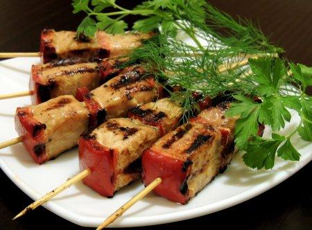 Рецепт Горячая закуска из красной рыбы