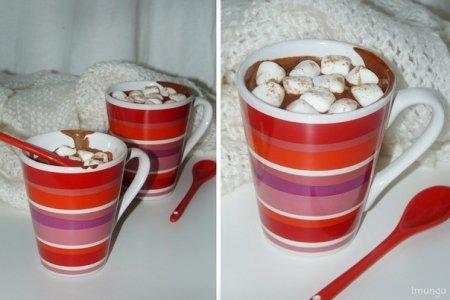 Рецепт Горячий шоколад с кофе, корицей и маршмелоу