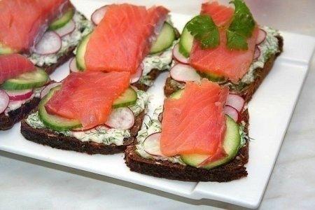 Рецепт Питательный завтрак-Сэндвич с рыбой