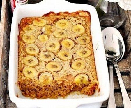 Рецепт Овсяная запеканка с бананами